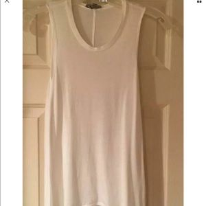 HELMUT LANG WHITE SLEEVLESS TOP SIZE P
